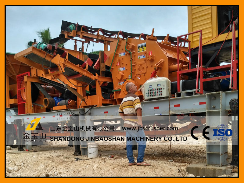 JBS MC4060 Mobile crushing plant in Tonga