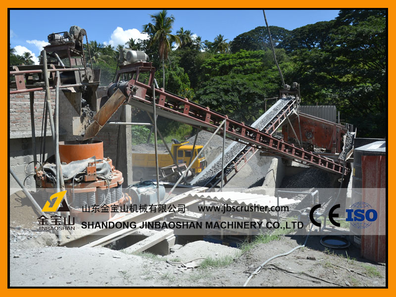 JBS 250tph River stone crushing plant in Indonersia