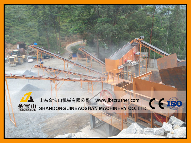JBS 250tph Hard stone crushing plant in Indonersia
