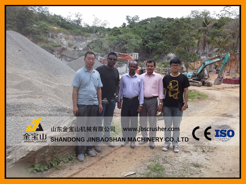 JBS 200tph Cobblestone crushing plant in Sri-Lanka